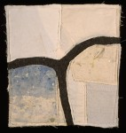 "P #32 - 12""H x 11""W  Canvas on wool, stitched"