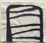 """S #10 - Wool and canvas - stitched - 10"""" x 11"""""""